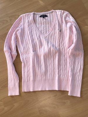 Gant Warkoczowy sweter jasny różowy