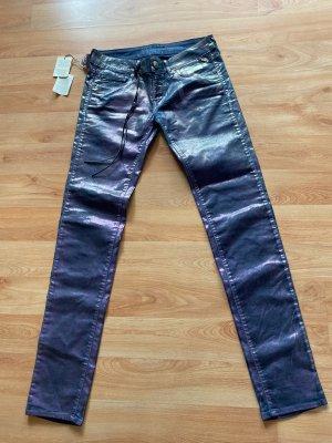 Replay Jeans elasticizzati blu-lilla