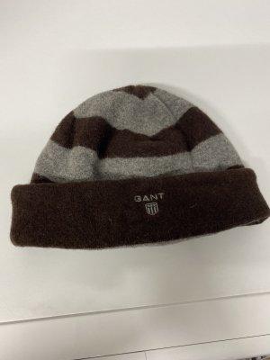 Gant Chapeau en tricot brun-gris