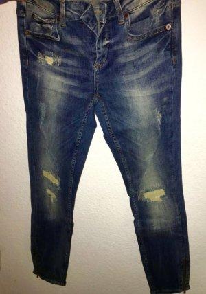 Ganz neue moderne Zipper Jeans top Zustand ungetragen