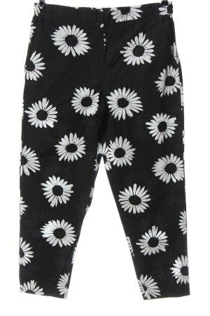 Gap 7/8-Hose schwarz-weiß Blumenmuster Casual-Look