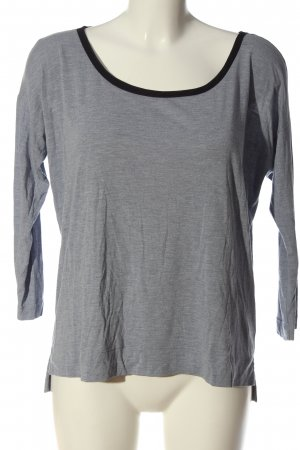 Gap Basic-Shirt hellgrau-schwarz meliert Casual-Look
