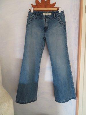 GAP Blue Jeans Flared - Gr. S -  Mittelblau 100% Baumwolle Midwaist Vintage