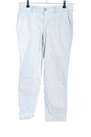 Gap Pantalon à pinces bleu-blanc motif rayé style décontracté