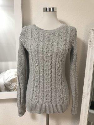 Gap Maglione intrecciato grigio chiaro Cotone