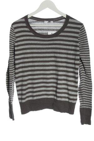 Gap Fine Knit Jumper light grey striped pattern casual look