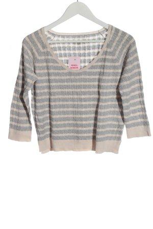 Gap Fine Knit Jumper light grey-cream striped pattern casual look