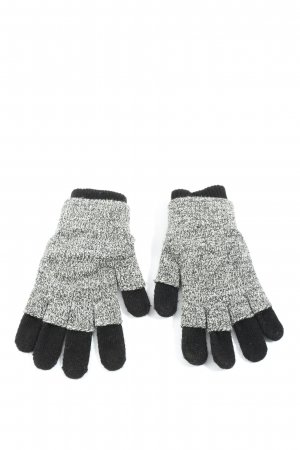 Gap Gloves black-light grey flecked casual look