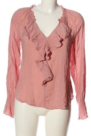 Gap Hemd-Bluse pink Punktemuster Casual-Look