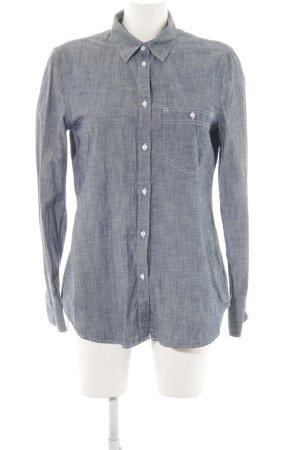 Gap Hemd-Bluse blau-weiß meliert Casual-Look