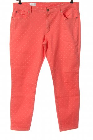 Gap High Waist Jeans pink-weiß Allover-Druck Casual-Look