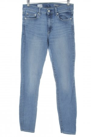 Gap Hoge taille jeans staalblauw casual uitstraling