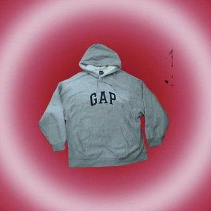 Gap Maglione con cappuccio bianco-grigio chiaro