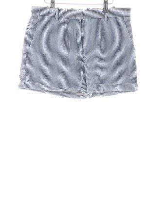 Gap Hot Pants weiß-schwarz Streifenmuster Casual-Look
