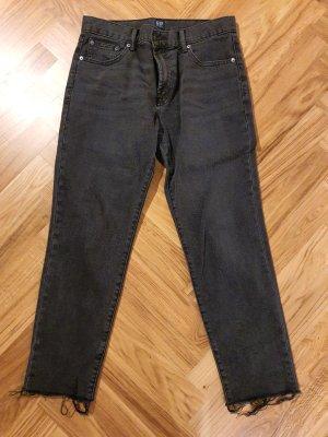 Gap Jeansy z prostymi nogawkami czarny-antracyt