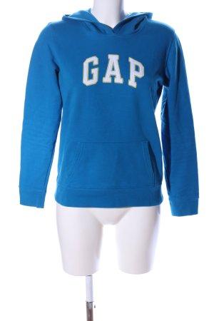 Gap Kapuzenpullover blau Schriftzug gedruckt Casual-Look