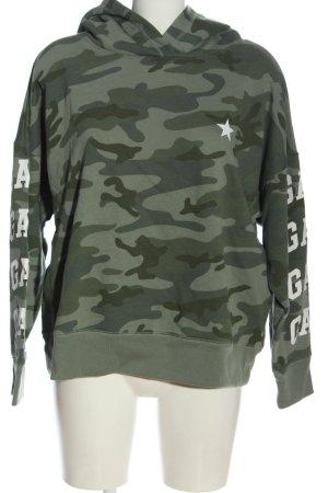 Gap Bluza z kapturem khaki Wzór moro W stylu casual