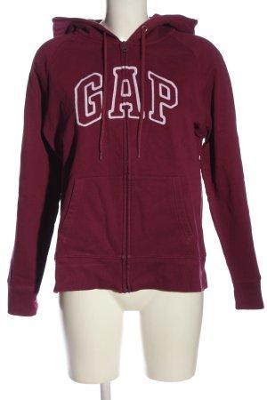 Gap Kapuzensweatshirt rot-weiß Schriftzug gedruckt Casual-Look