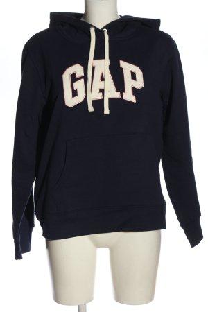 Gap Sudadera con capucha azul-blanco letras impresas look casual