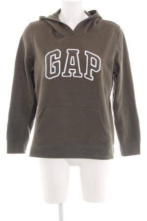 Gap Kapuzensweatshirt braun Schriftzug gedruckt Casual-Look