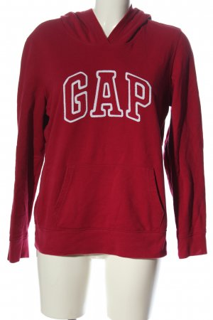 Gap Sudadera con capucha rojo letras impresas look casual