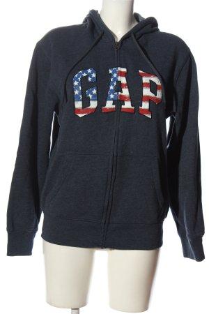 Gap Hooded Sweatshirt blue flecked casual look