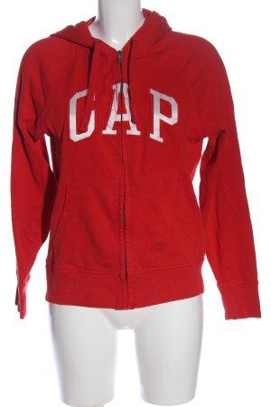 Gap Bluza z kapturem czerwony-biały Wydrukowane logo W stylu casual