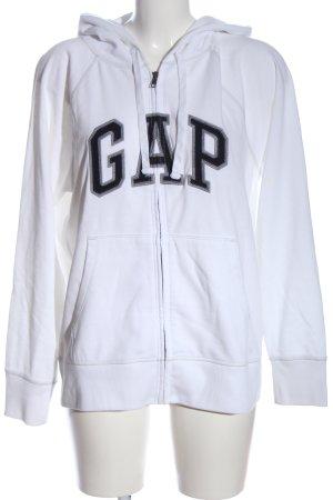 Gap Hooded Sweatshirt white-black printed lettering casual look