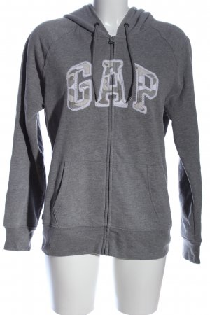 Gap Kapuzensweatshirt hellgrau-weiß Casual-Look