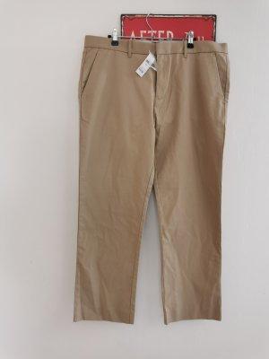 Gap Jeansy z prostymi nogawkami piaskowy brąz Bawełna