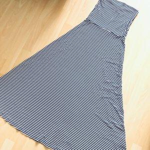 GAP Kleid Gr XS blau weiß gestreift Maxikleid lang