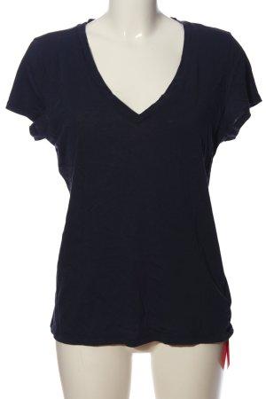 Gap Kurzarm-Bluse blau Casual-Look