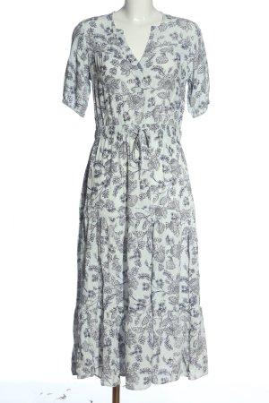 Gap Shortsleeve Dress white-blue flower pattern casual look