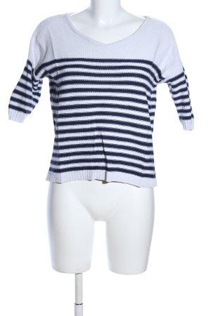 Gap Maglione a maniche corte bianco-blu motivo a righe stile casual