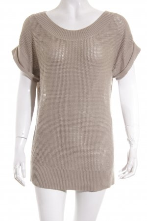 Gap Short Sleeve Sweater camel loosely knitted pattern casual look