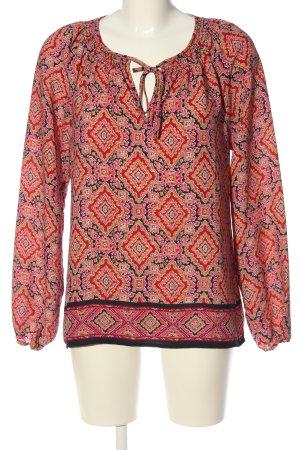 Gap Langarm-Bluse abstraktes Muster Casual-Look