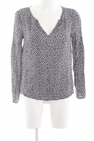 Gap Langarm-Bluse schwarz-weiß Allover-Druck Casual-Look