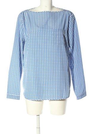 Gap Langarm-Bluse weiß-blau Allover-Druck Casual-Look
