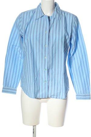 Gap Langarmhemd blau-weiß Streifenmuster Casual-Look
