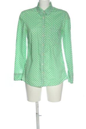 Gap Langarmhemd grün-weiß abstraktes Muster Casual-Look