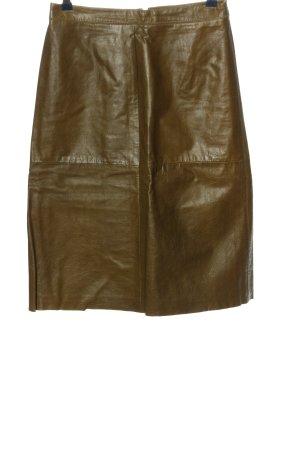 Gap Falda de cuero marrón look casual