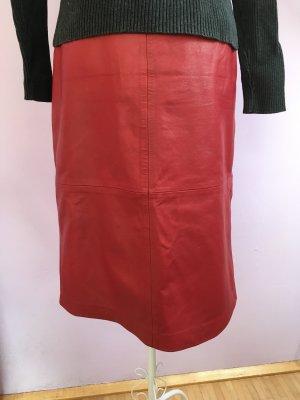Gap Leather Skirt dark red