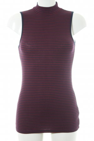 Gap Polo Top bordeaux-dark blue striped pattern casual look