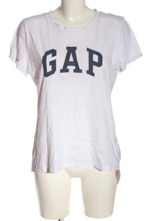 Gap Camiseta estampada blanco-azul moteado look casual