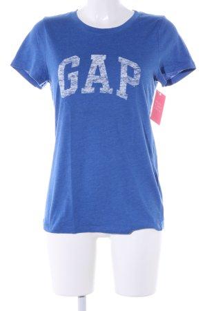 Gap Print-Shirt blau meliert Casual-Look