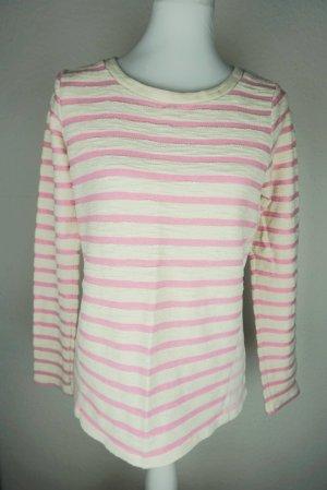 Gap Jersey largo blanco puro-rosa claro Algodón