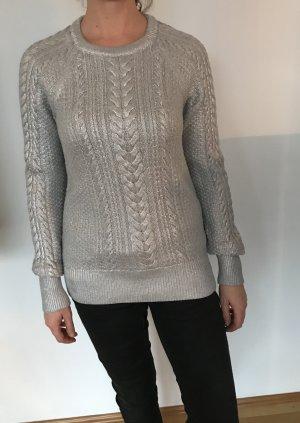 GAP Pullover Silberbeschichtet, Baumwolle, Gr. M (Long), neuwertig