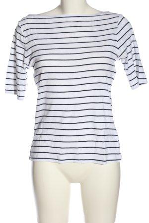 Gap Ringelshirt weiß-schwarz Streifenmuster Casual-Look