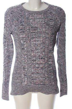 Gap Jersey de cuello redondo gris claro-negro moteado elegante
