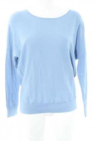 Gap Rundhalspullover blau Business-Look